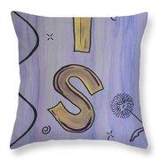 Wish Acrylic Watercolor Throw Pillow