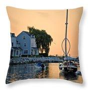 Wishbone Yacht Throw Pillow