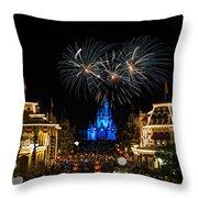 Wishes At Magic Kingdom Throw Pillow