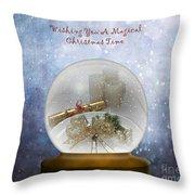 Wishing You A Magical Christmas Time Throw Pillow