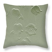 Wishing You Joy Greeting Card - Lily Of The Valley Throw Pillow