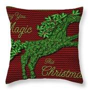 Wishing You Magic This Christmas Throw Pillow