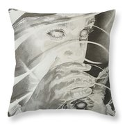 Wisper Black Ribbon Collection#2 Throw Pillow