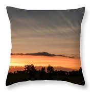 Wispy Clouds At Sunset Throw Pillow