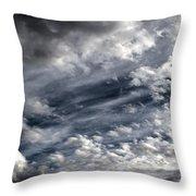 Wispy Skies Throw Pillow