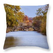 Wissahickon Autumn Throw Pillow