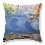 Wissahickon Creek At Bells Mill Rd. Throw Pillow