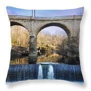 Wissahickon Viaduct Throw Pillow