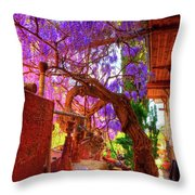 Wisteria Canopy In Bisbee Arizona Throw Pillow
