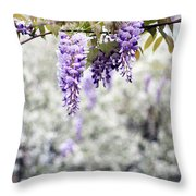 Wisteria Throw Pillow by Darren Fisher
