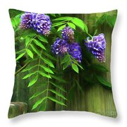 Wisteria 2 Throw Pillow