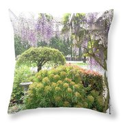 Wisteria In Hailstorm Throw Pillow