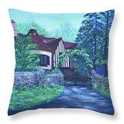 Wisteria Mansion Throw Pillow
