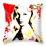 Wistful Flutter Throw Pillow