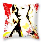 Wistful Flutter Throw Pillow