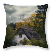 Witch Cottage Throw Pillow