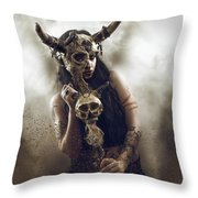 Witch Doctor 2 Throw Pillow