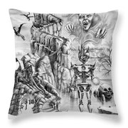 Witch Hunter Throw Pillow