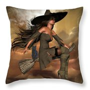 Witch Way  Throw Pillow
