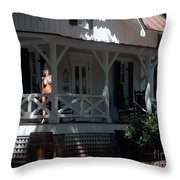 Witch With The Golden Mask Throw Pillow