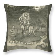 Witch Woman Throw Pillow