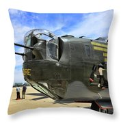 Witchcraft Wwii Bomber Throw Pillow