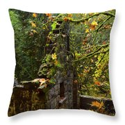 Witches Castle Throw Pillow