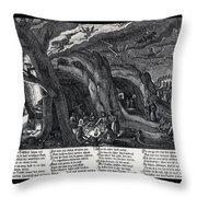 Witches Sabbath, 1630 Throw Pillow