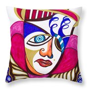With Deep Thoughts And Tears - II Throw Pillow