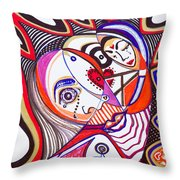 With Deep Thoughts And Tears - Iv Throw Pillow