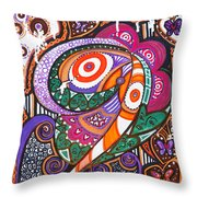 With Deep Thoughts And Tears - Vi Throw Pillow