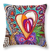 With Deep Thoughts And Tears - Viii Throw Pillow