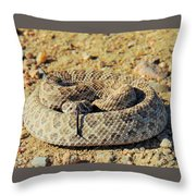 With Forked Tongue Throw Pillow