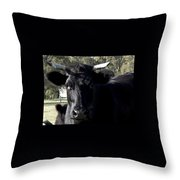 With Love - Bull Friend Throw Pillow