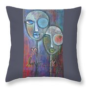 With Love On Our Wings Throw Pillow