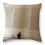 With Malice Toward None With Charity For All -- President Lincoln's Second Inaugural Address Throw Pillow
