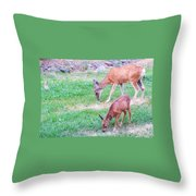 With Mother Throw Pillow