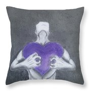 With My Heart In My Hands  Throw Pillow
