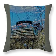 With No Headlights Throw Pillow