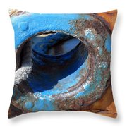With Old Ship Throw Pillow