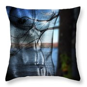 With The Back To The Sea  Throw Pillow