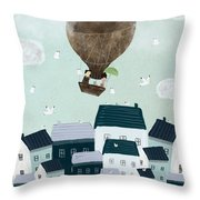 With The Birds Throw Pillow