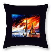 With The Wind Throw Pillow