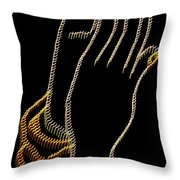 With Trembling. Hands Throw Pillow