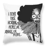 Withdrawn Disinterest  Throw Pillow