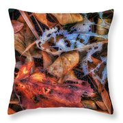 Withered Autumn Throw Pillow