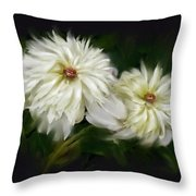 Withering Peony Throw Pillow