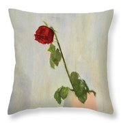 Withering Rose Throw Pillow