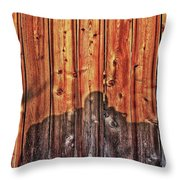 Within A Wooden Fence Throw Pillow