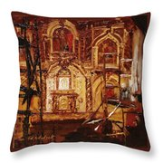 Within The Scaffold Throw Pillow